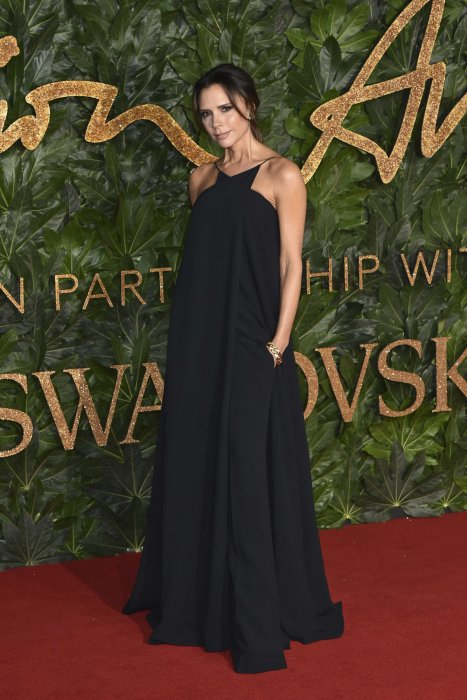 Victoria Beckham à la soirée British Fashion Awards à Londres, le 10 décembre 2018.