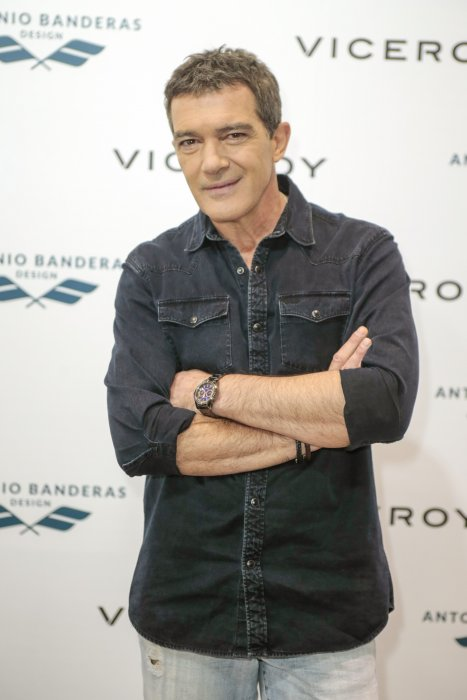 Antonio Banderas assiste à la présentation de la nouvelle collection Viceroy à Madrid, le 18 novembre 2016.