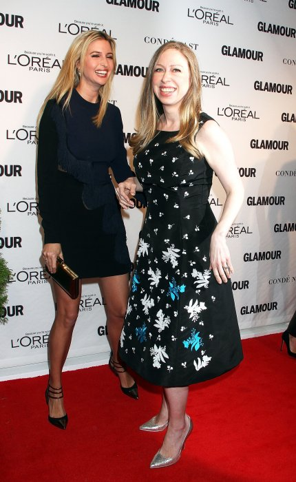 "Ivanka Trump et Chelsea Clinton assistent aux ""Glamour Women Of The Year Awards"" à New York, le 10 novembre 2014."