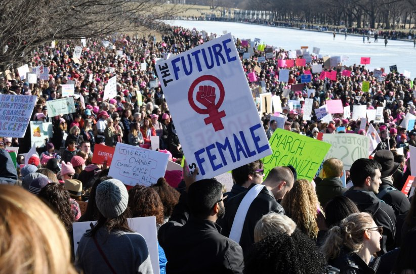 "La seconde ""Marche des femmes"" (""Women's March"") à Washington, le 20 janvier 2018."