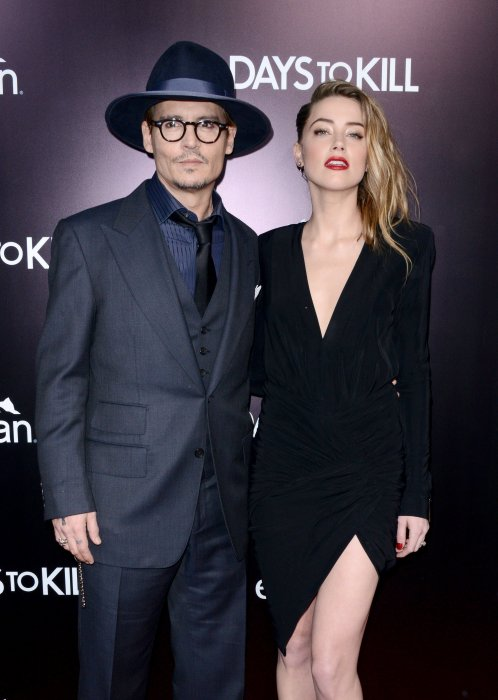 Johnny Depp et Amber Heard assistent à la première du film 3 Days To Kill à Los Angeles, le 12 février 2014.
