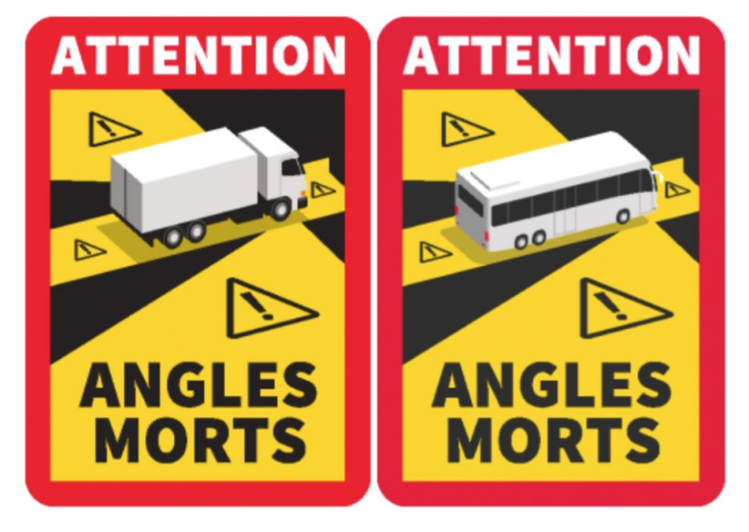 Angles morts sur les camions