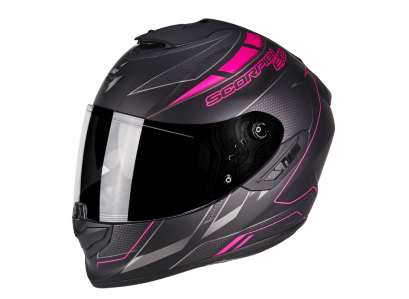 Casque Scorpion Exo 1400 Air Cup : Matt Black Chameleon Pink