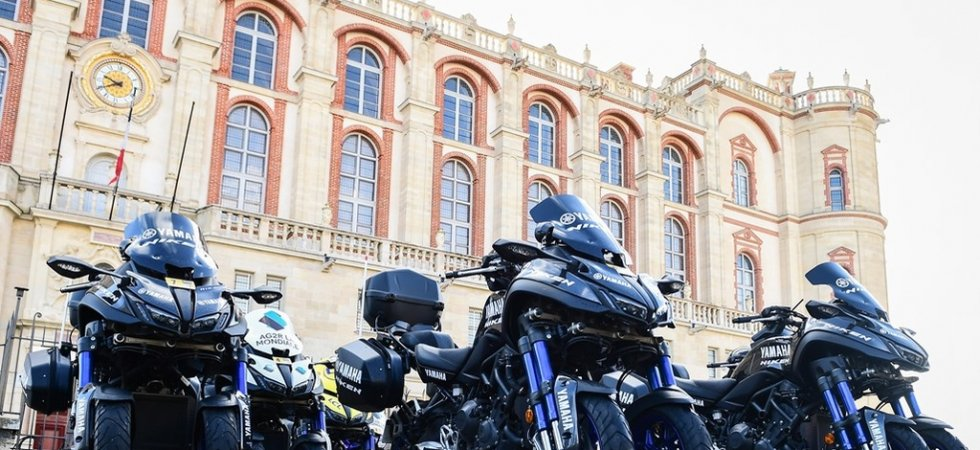 Le Yamaha Niken, moto officielle du Tour de France
