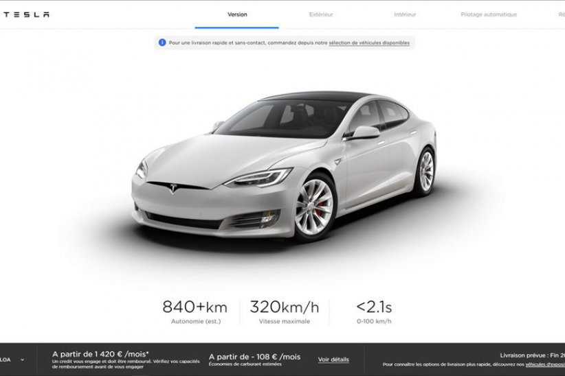 Tesla Model S Plaid : 840 km d'autonomie et 320 km/h en pointe