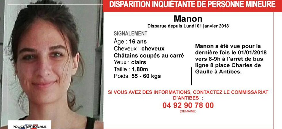 Antibes : disparition inquiétante d'une adolescente